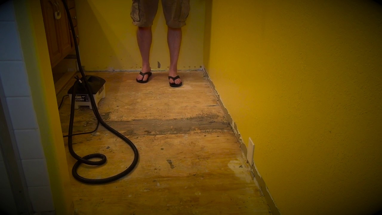 Linoleum Or L Stick Flooring Removal Non Toxic With Steam