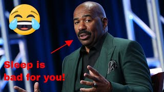 Steve Harvey says rich people don't sleep 8 hours a day and a lot of people get very upset