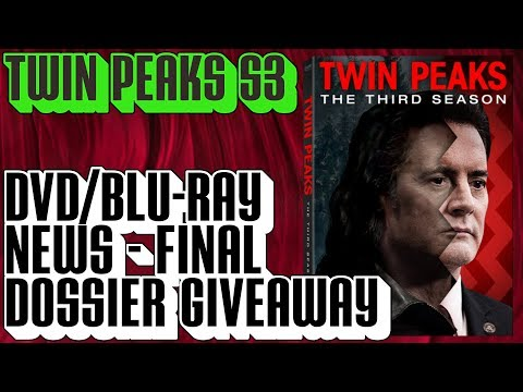 Twin Peaks Season 3 DVD/BluRay Release Date &   Final Dossier Book Giveaway