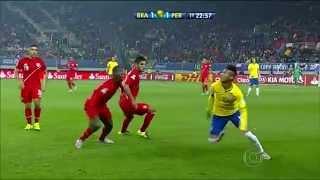 Neymar Double Sombrero Skill vs Peru - Copa America 2015
