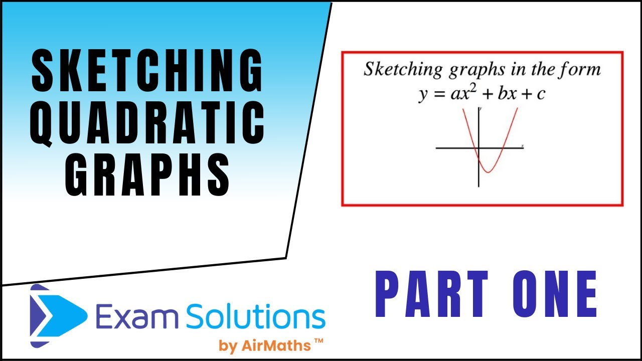 Sketching Quadratic Graphs : ExamSolutions