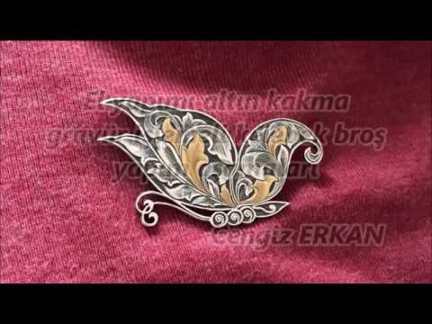 Cengiz Erkan - El yapımı altın kakma gravür çalışması / custom hand engraving, gold inlay