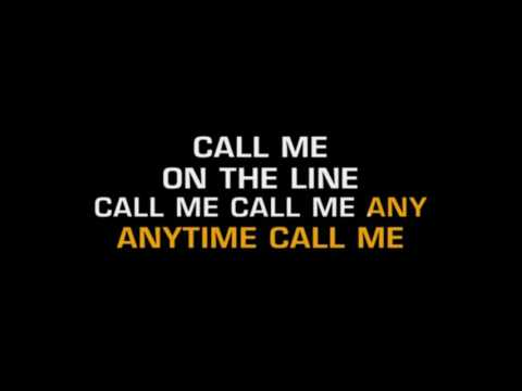 """CALL ME"" de Blondie  in C  Karaoke ( -1 tono del original)"