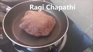 ராகி சப்பாத்தி/ கேழ்வரகு சப்பாத்தி Ragi Chapathi/Ragi Roti/#140