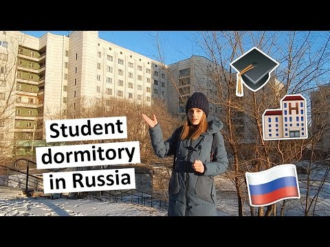DORM TOUR / REVIEW OF A STUDENT DORM IN RUSSIA