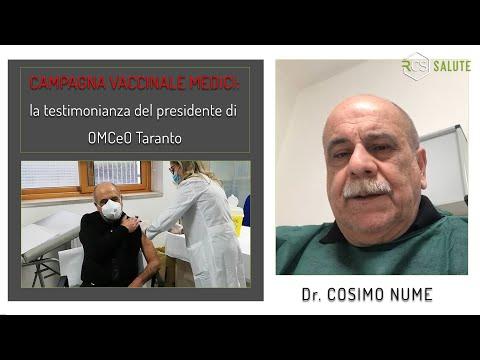 Campagna vaccinale con i visi dei nostri medici: Cosimo Nume da Taranto