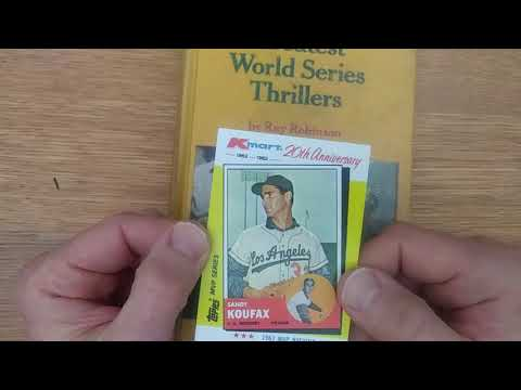Happy Birthday, Sandy Koufax! Celebrating With Kmart Baseball Cards And World Series Thrillers