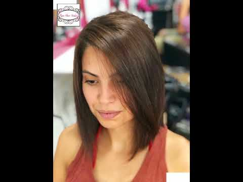 Before After Gorgeous Undone Textured Long Bob Hairstyle By Reni