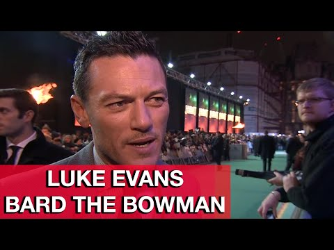 The Hobbit 3: Bard the Bowman Luke Evans Interview - The Battle of the Five Armies World Premiere