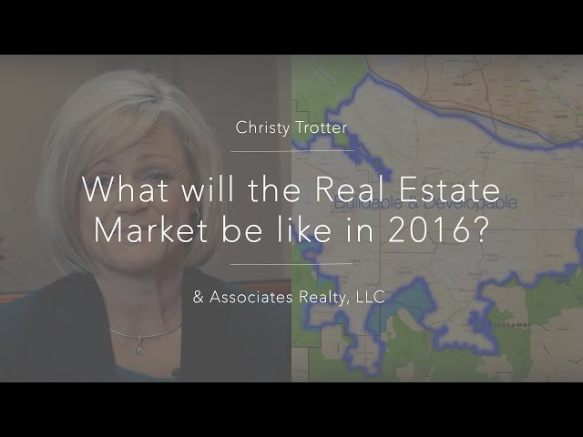 What will the Real Estate Market be like in 2016?
