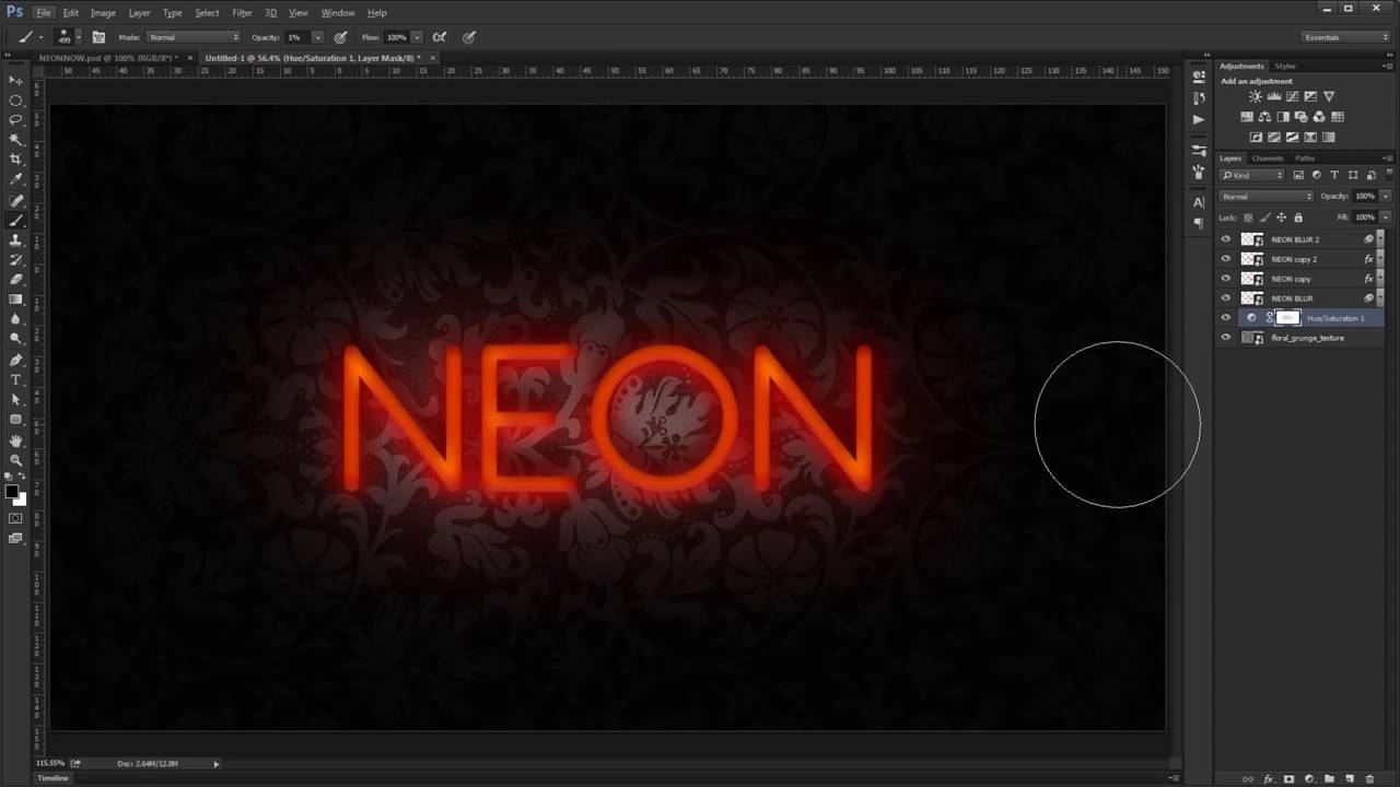 Realistic neon text effect psd photoshop tutorial youtube realistic neon text effect psd photoshop tutorial baditri Image collections