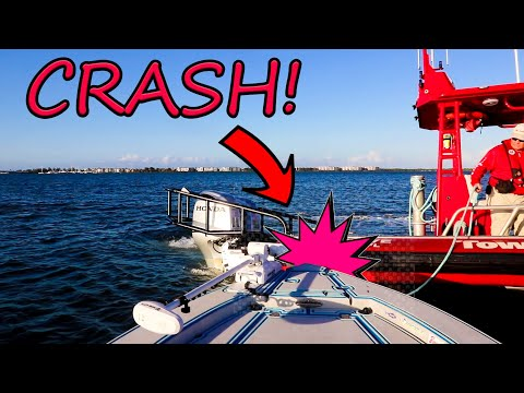 ENGINE FAILURE & BOAT ACCIDENT- We Got Hit By Another Boat! (Stuart Florida Fishing)