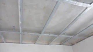 потолок из гипсокартона с подсветкой от начало до финиша(Ув. зрители канала, это видео самого обычного ПОДВЕСНОГО ПОТОЛОКА ИЗ ГИСОКАРТОНА, но с не обычным решением..., 2015-05-21T13:58:56.000Z)