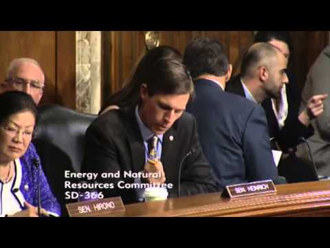 Sen. Heinrich Asks About LNG Exports and Australia