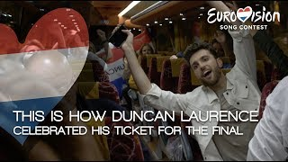This is how Duncan Laurence celebrated his ticket for the final | TeamDuncan