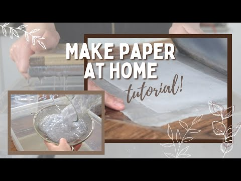 How to make recycled paper (+ mould & deckle diy) | Tutorial