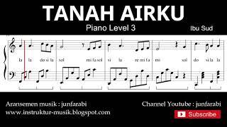 tanah airku not balok piano level 3 - lagu wajib nasional