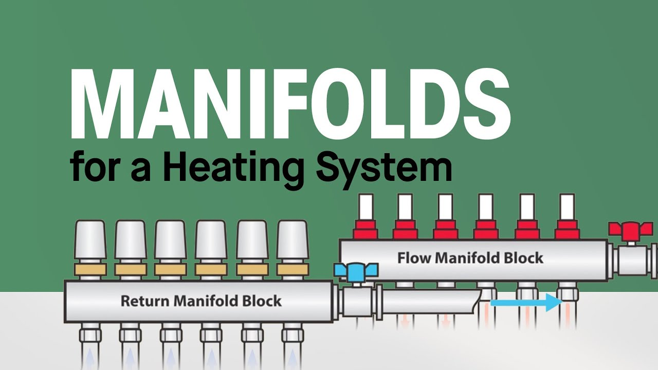 Manifolds for a heating system youtube for Pex hot water heating system