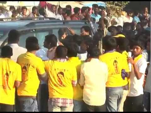 Revanth Reddy Entry At Kollapur Prajaporu  Meeting
