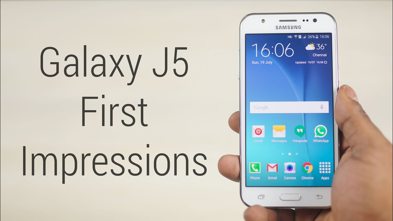 Galaxy J5 - Hands On & First Impressions! - YouTube