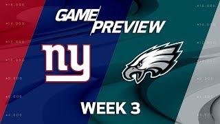 New York Giants vs. Philadelphia Eagles   Week 3 Game Preview   Move the Sticks