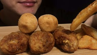 SUB) 교촌치킨 간장 맛 닭다리, 치즈볼, 웨지감자 …