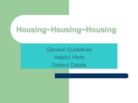 Housing for Individuals with Disabilities
