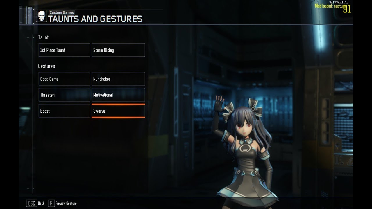 BO3 Neptunia Mod - Taunts by CN Loyalists
