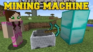 Minecraft: MINING MACHINE CHALLENGE! (ORE & BLOCK GRABBING MACHINE) Custom Command