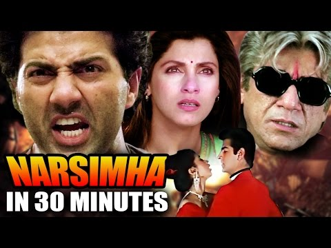 Narsimha in 30 Minutes | Sunny Deol | Urmila Matondkar | Ravi Behl | Hindi Action Movie