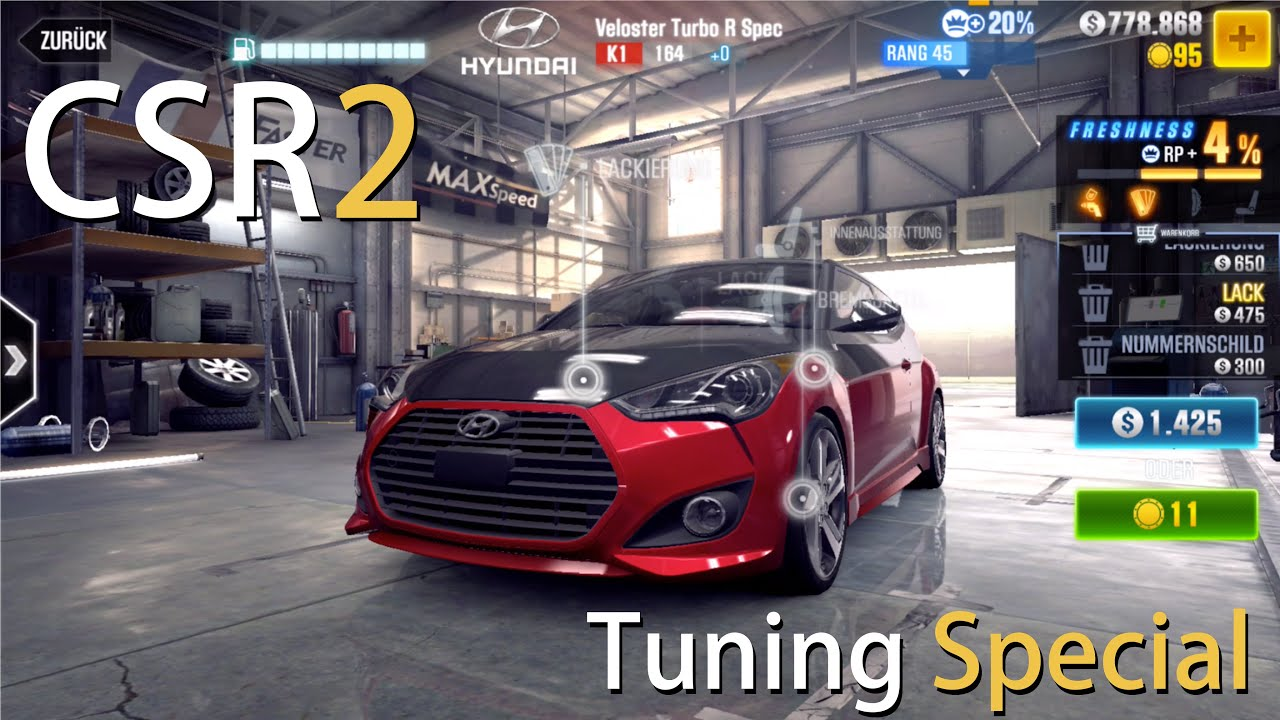hyundai veloster r tuning let 39 s play csr racing 2 ios. Black Bedroom Furniture Sets. Home Design Ideas