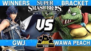 Smash Ultimate - GwJ (Chrom) vs Wawa Peach (K. Rool) - CNB 165 Winners Bracket