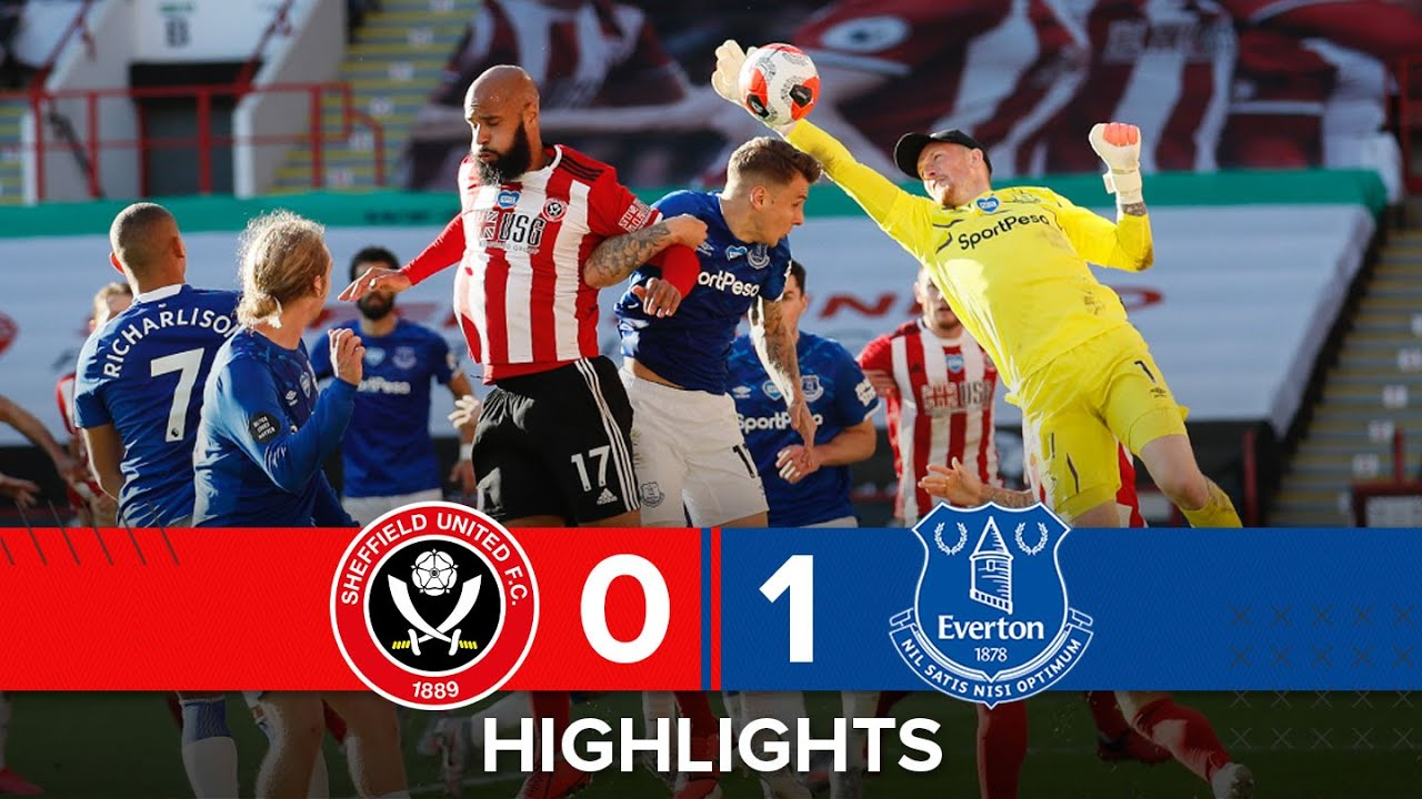 Sheffield United 0-1 Everton | Premier League highlights | Richarlison goal downs Blades