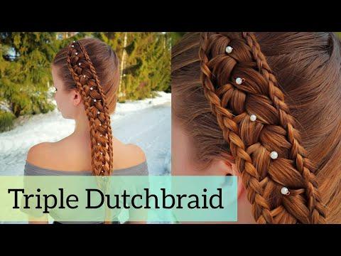 Triple Dutch Braid | Easy School Hairstyles | How to Hair