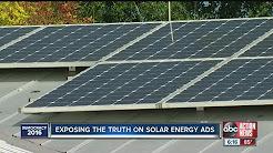 Exposing the truth on solar energy ads