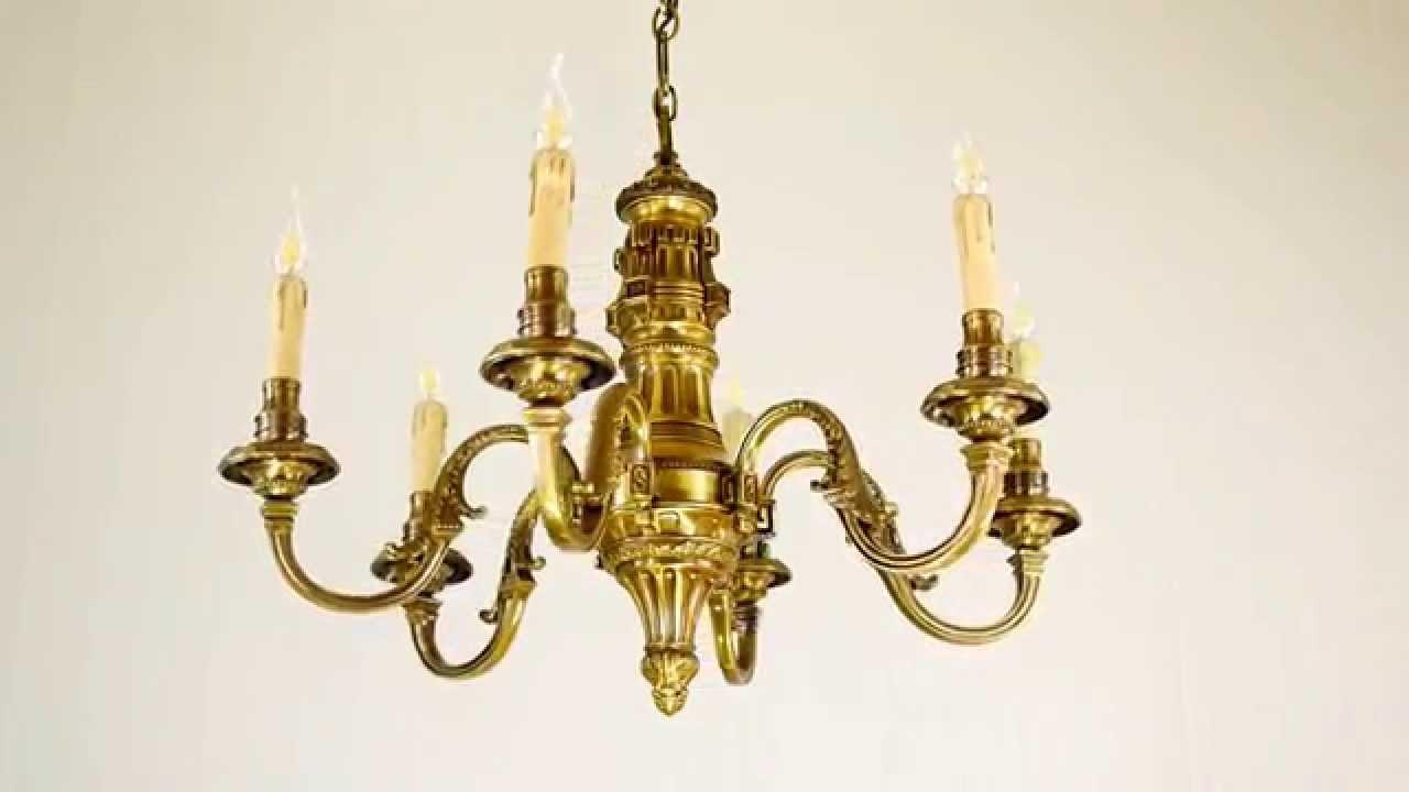 6500_S6: lampadario in fusione di ottone color bronzo oliva - YouTube