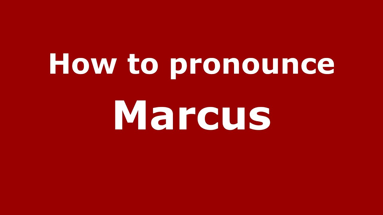 Marcus Name