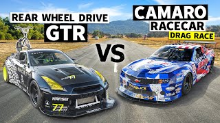 Coco Zurita's RWD R35 GT-R Races Michele Abbate's Trans-Am Series Racecar // This vs. That