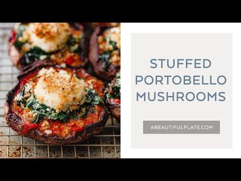 STUFFED PORTOBELLO MUSHROOMS | Portobello Mushroom Recipe With Crispy Goat Cheese