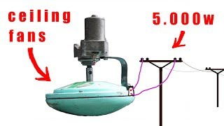 How to turn a ceiling fan into a power generator