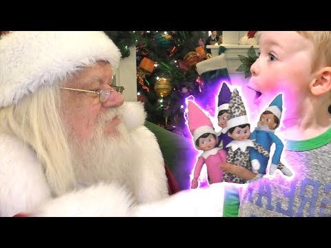 Elf on the Shelf Turned into Magic Elves by Santa | DavidsTV