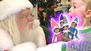 Elf on the Shelf Turned into Magic Elves by Santa | DavidsTV