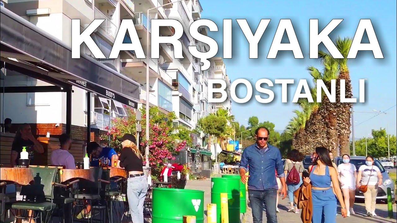 [4K] Walking in Izmir Karşıyaka, Bostanlı Neighborhood Tour | 🇹🇷 Turkey Travel 2021