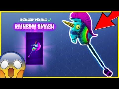 *NEW* RAINBOW SMASH PICKAXE (LLAMA/UNICORN PICKAXE!) | Fortnite Battle Royale!