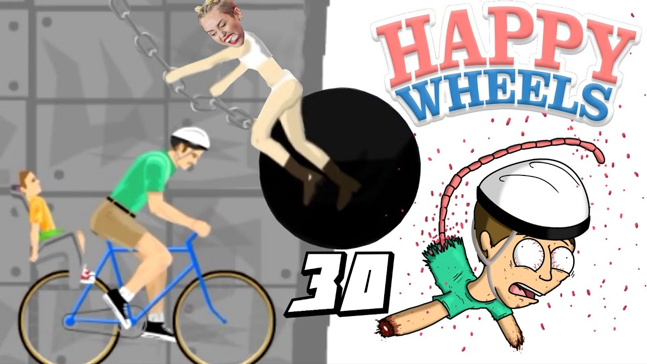 MILEY CYRUS MI DEMOLISCE! - Happy Wheels [Ep.30]