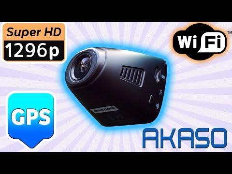 1296p - WiFi - GPS All-In-One Dash Cam 2019! Akaso V1