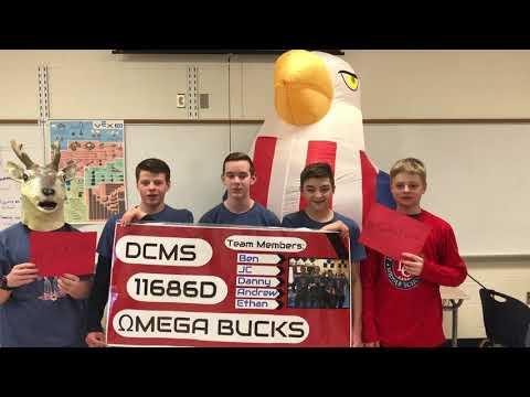 Welcome to 11686D Omega Bucks - Doe Creek Middle School - Vex IQ Ringmaster Worlds Video