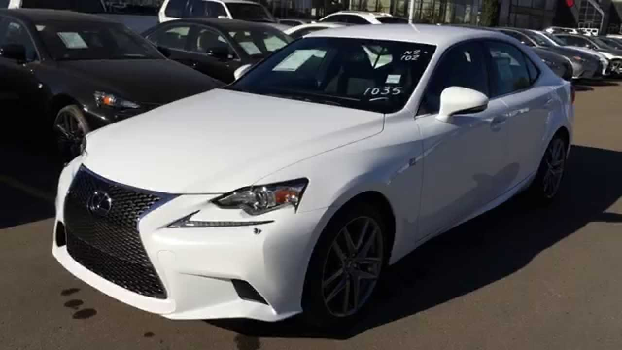 new ultra white 2015 lexus is 250 awd f sport series 1 walk through review downtown edmonton. Black Bedroom Furniture Sets. Home Design Ideas
