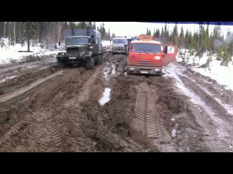 Конец зимника Усинск
