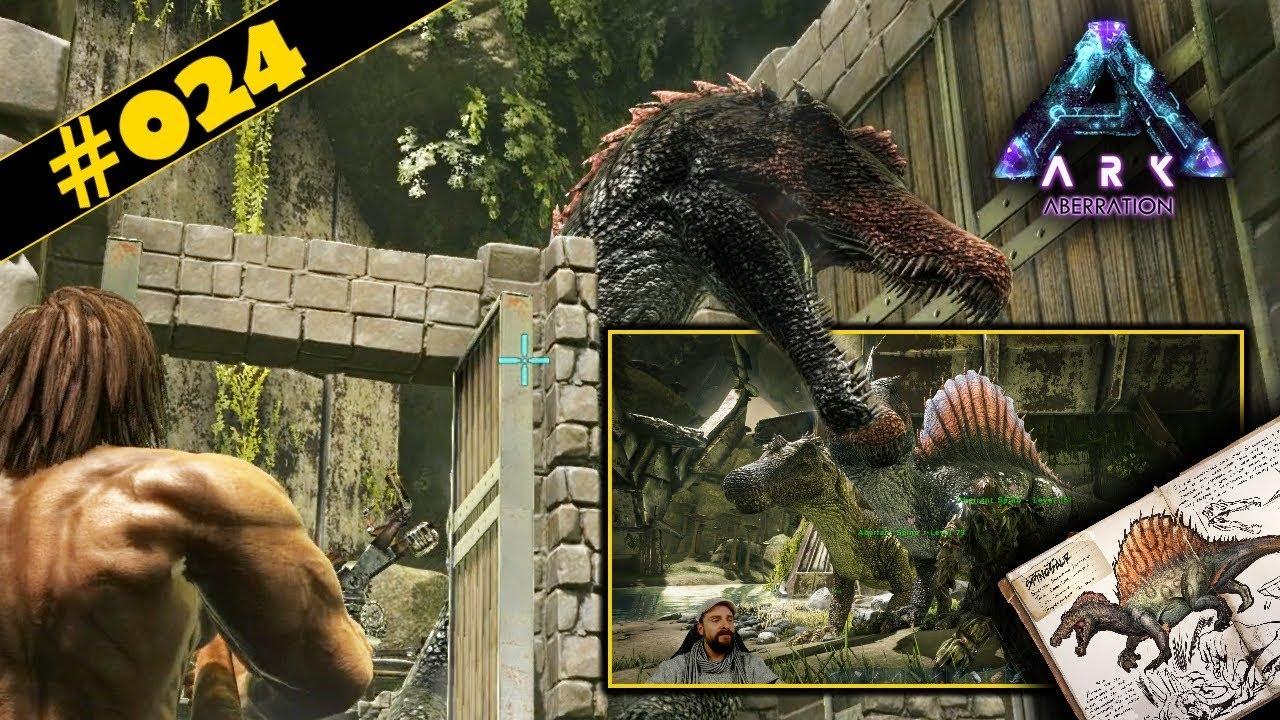 Kletterausrüstung Conan Exiles : Ark aberration deutsch #024 der große spinosaurus steht noch aus